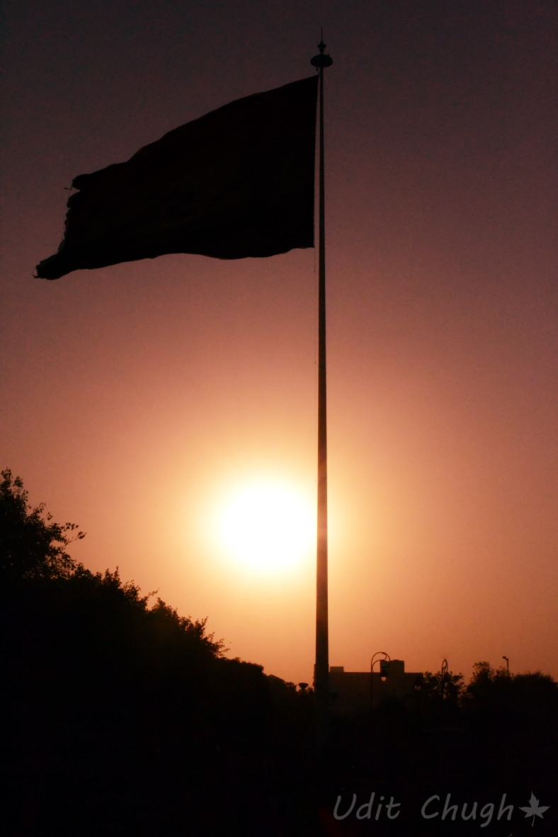 sunset+flag